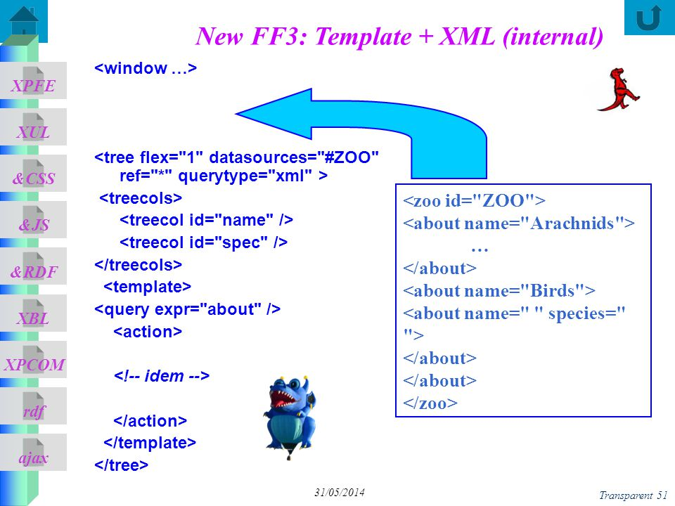 New FF3: Template + XML (internal)
