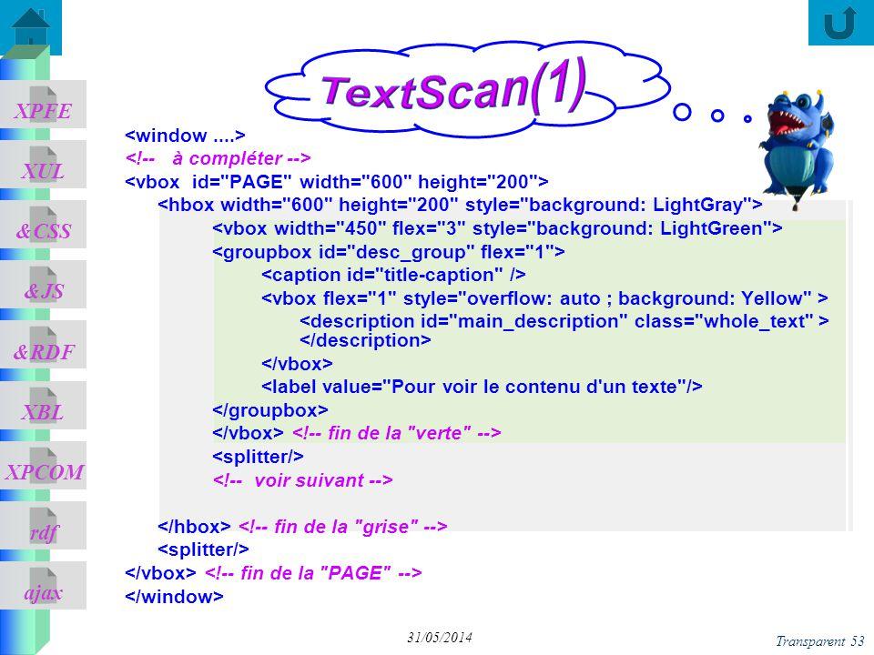 TextScan(1) <window ....> <!-- à compléter -->