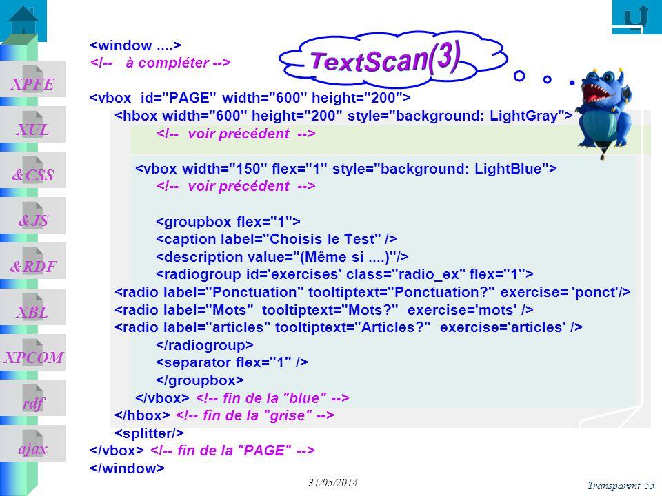 TextScan(3) <window ....> <!-- à compléter -->