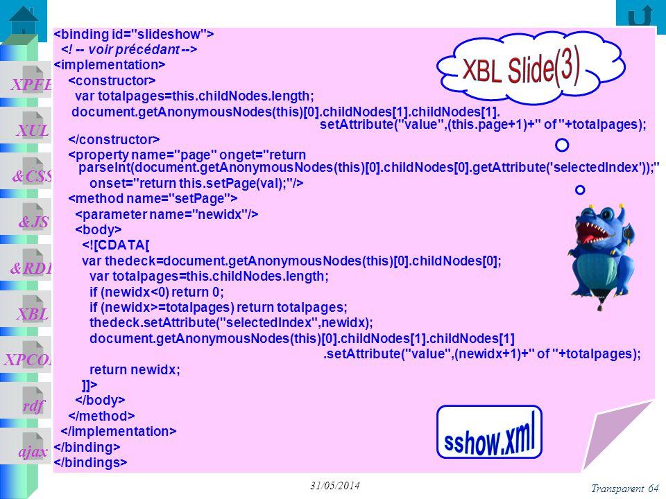 XBL Slide(3) sshow.xml <binding id= slideshow >
