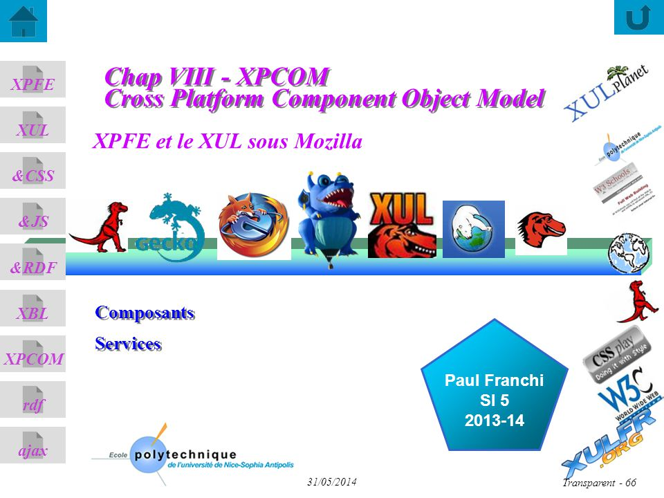 Chap VIII - XPCOM Cross Platform Component Object Model