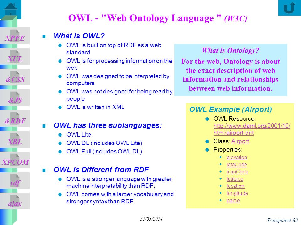 OWL - Web Ontology Language (W3C)
