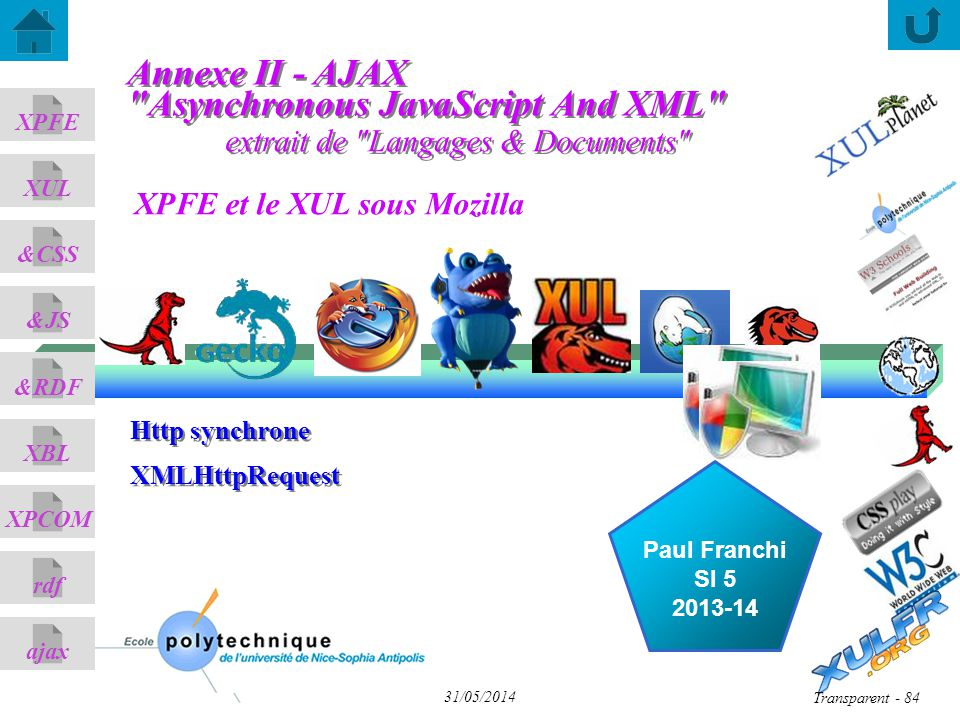 Annexe II - AJAX Asynchronous JavaScript And XML