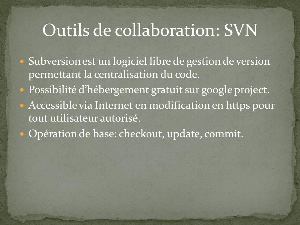 Outils de collaboration: SVN