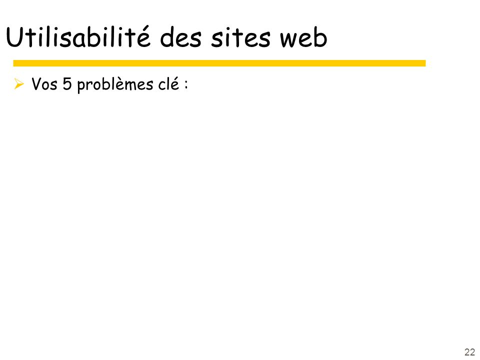 Utilisabilité des sites web