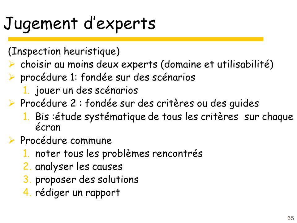 Jugement d'experts (Inspection heuristique)
