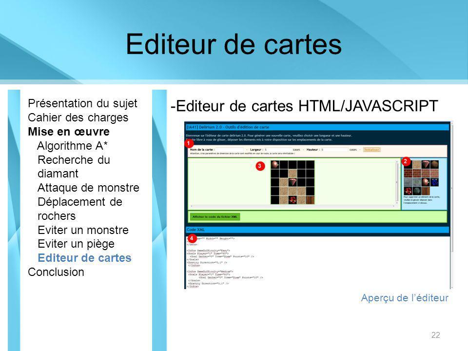 Editeur de cartes Editeur de cartes HTML/JAVASCRIPT