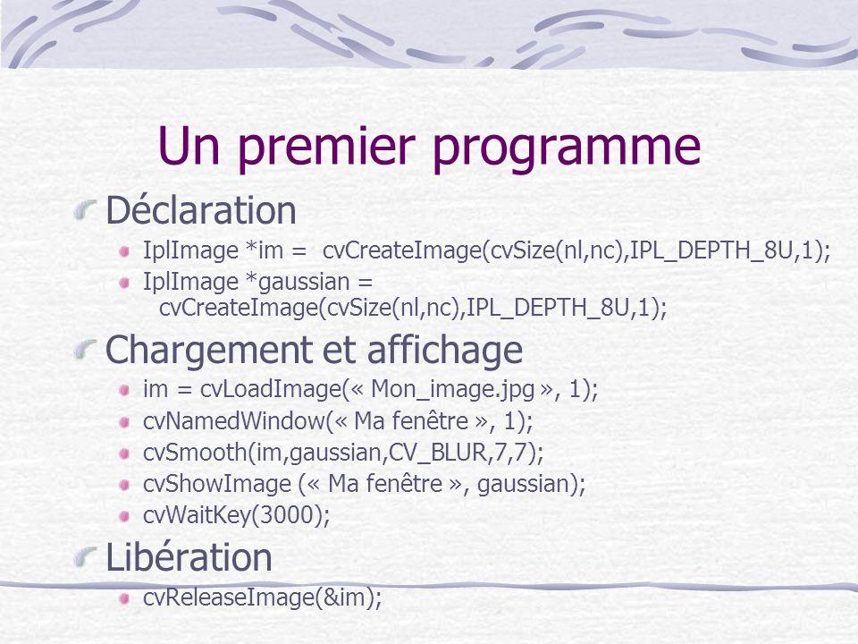 Un premier programme Déclaration Chargement et affichage Libération