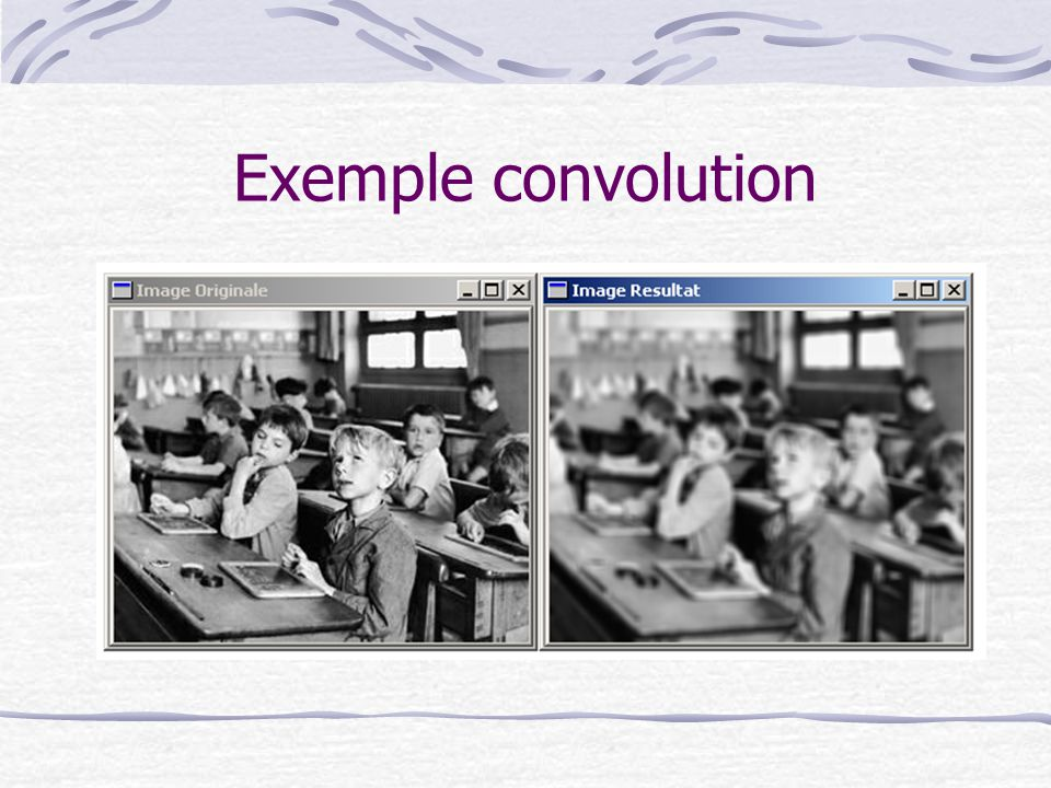 Exemple convolution