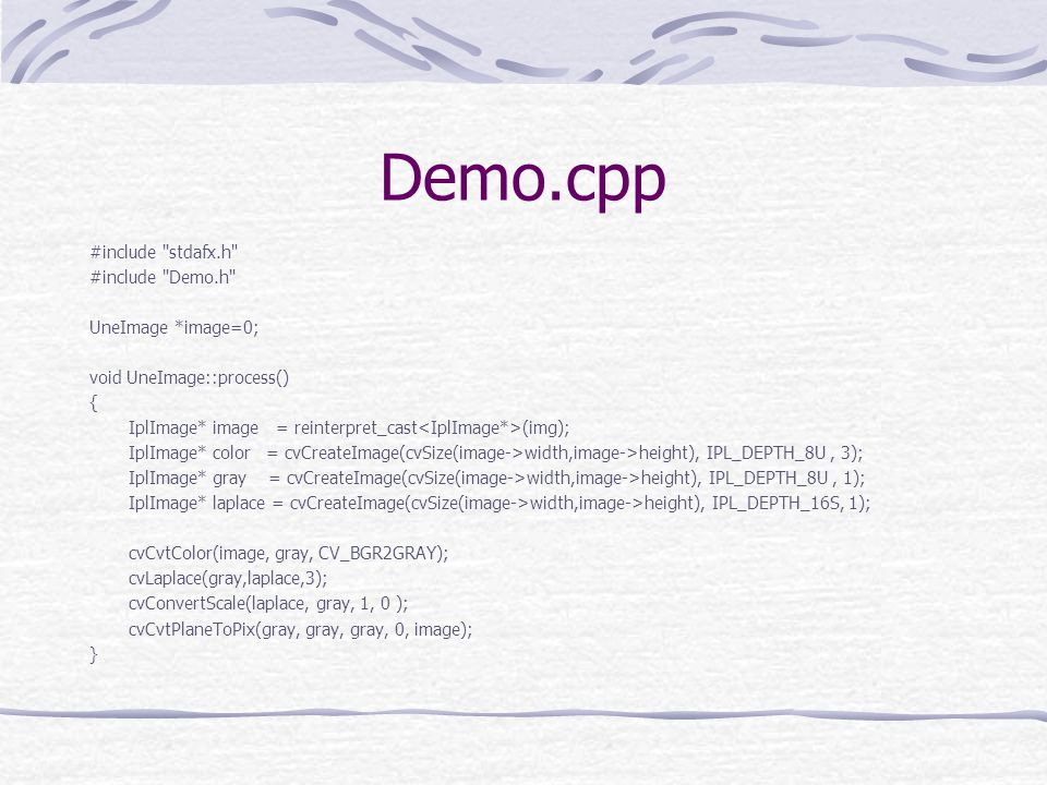 Demo.cpp #include stdafx.h #include Demo.h UneImage *image=0;