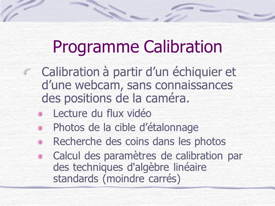 Programme Calibration