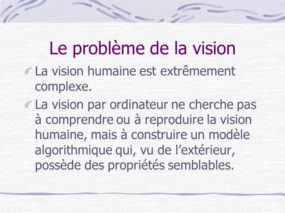 Le problème de la vision