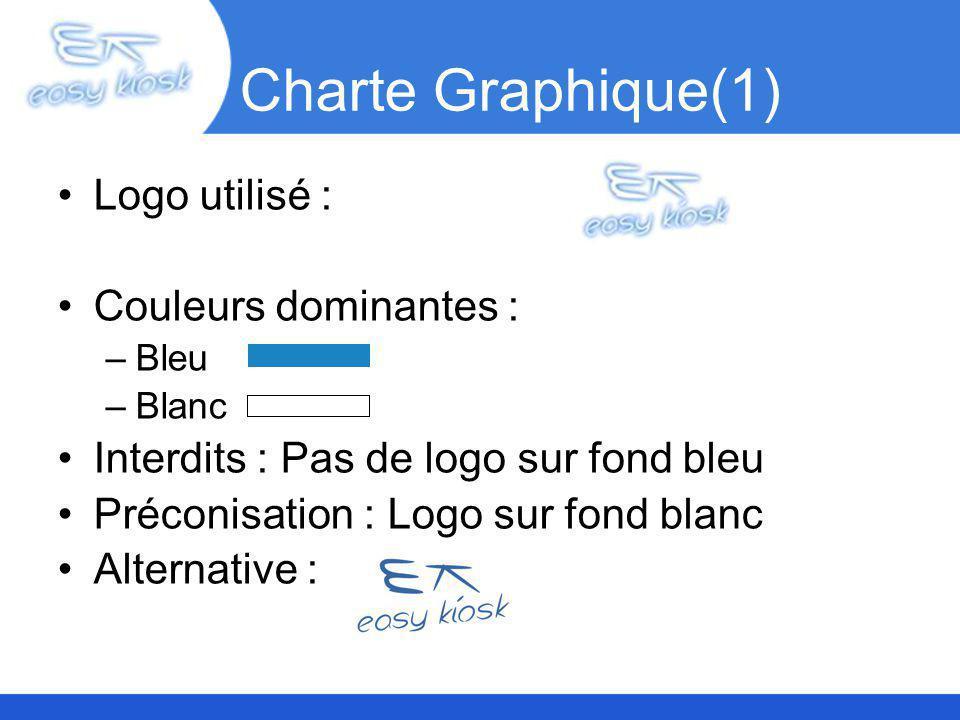 Charte Graphique(1) Logo utilisé : Couleurs dominantes :