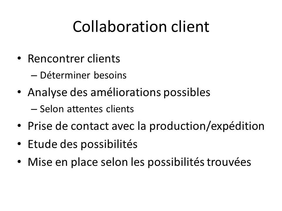 Collaboration client Rencontrer clients