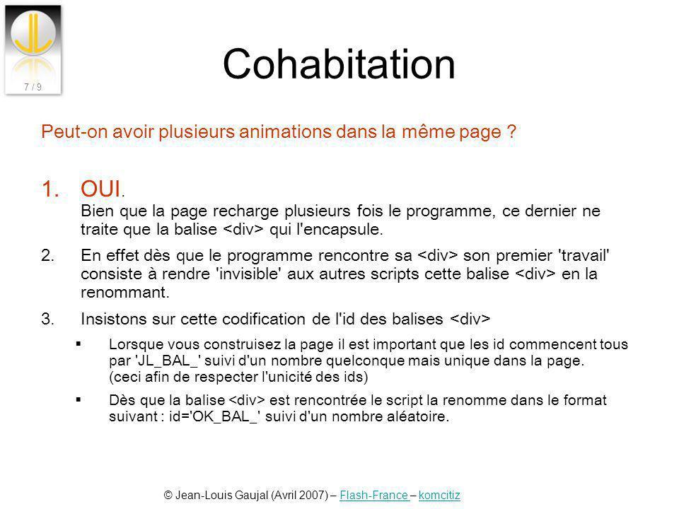 Cohabitation Peut-on avoir plusieurs animations dans la même page