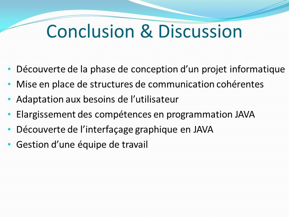 Conclusion & Discussion