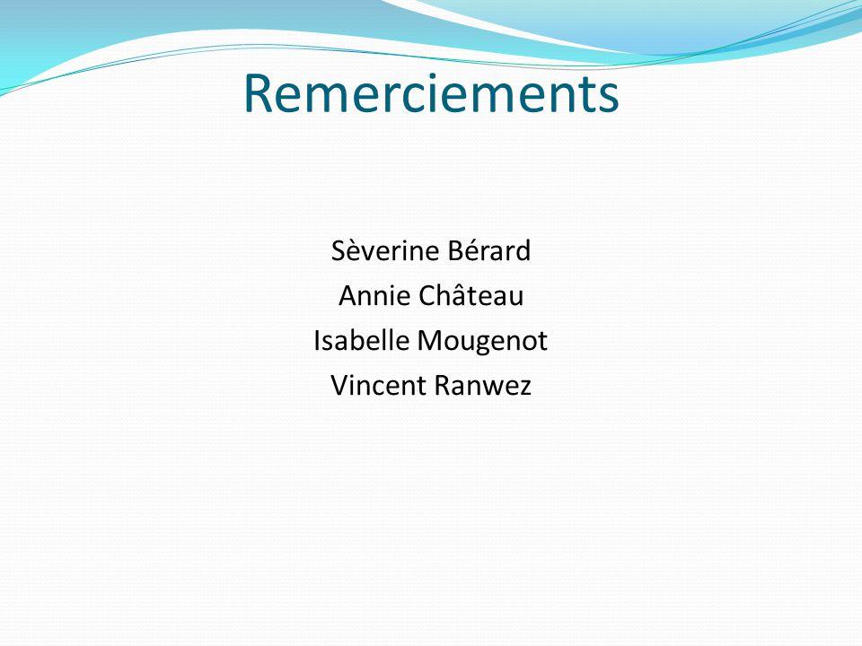 Sèverine Bérard Annie Château Isabelle Mougenot Vincent Ranwez
