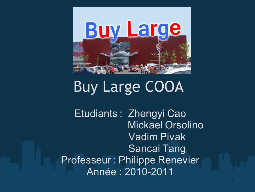 Buy Large COOA Etudiants : Zhengyi Cao Mickael Orsolino Vadim Pivak