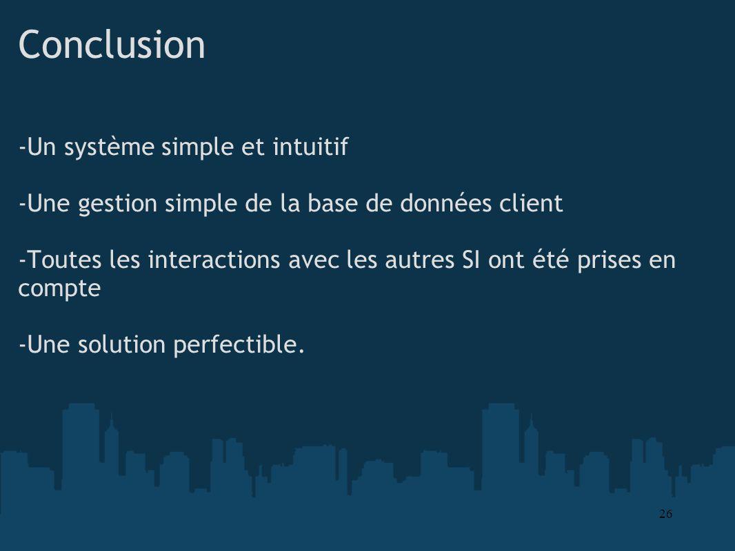 Conclusion -Un système simple et intuitif