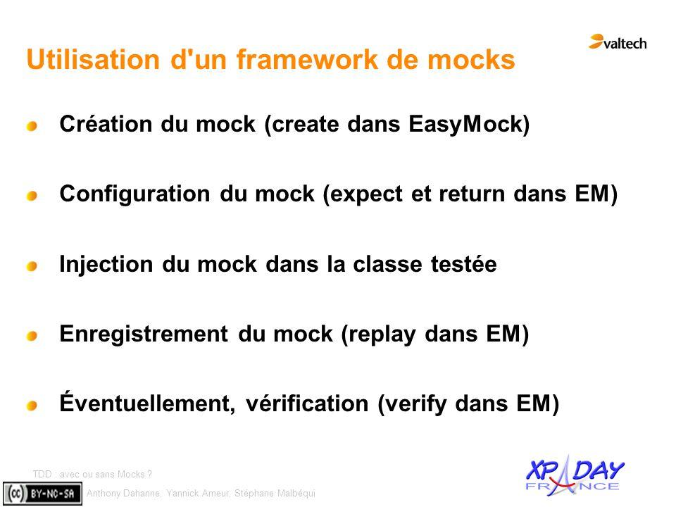 Utilisation d un framework de mocks