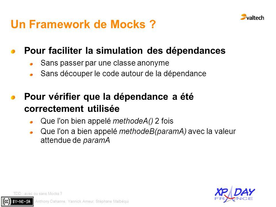 Un Framework de Mocks Pour faciliter la simulation des dépendances
