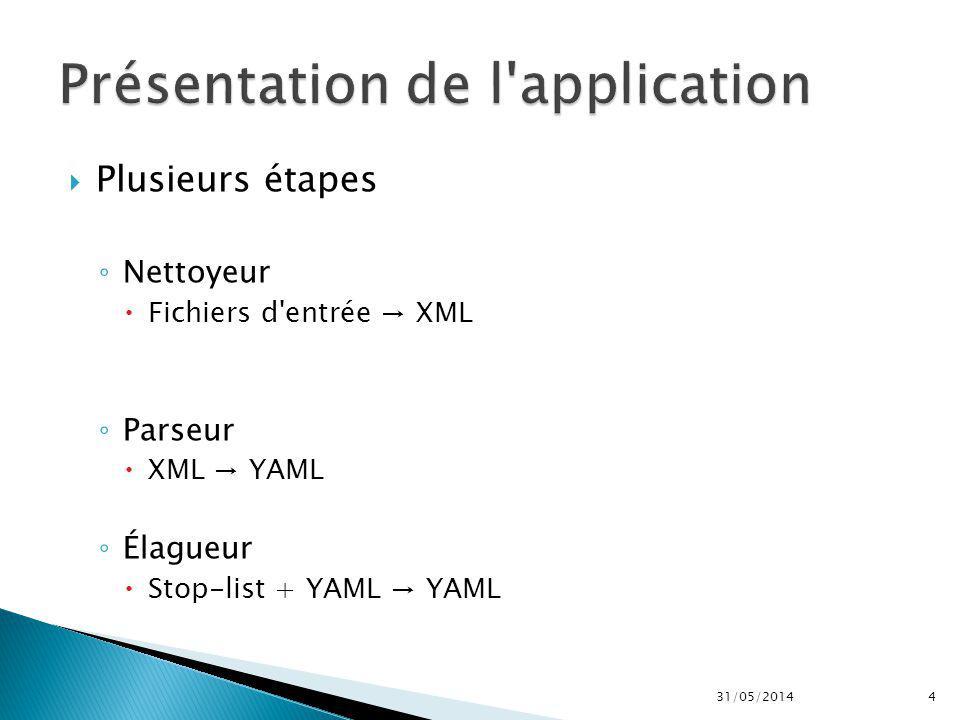 Présentation de l application