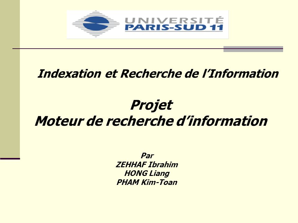 Moteur de recherche d'information