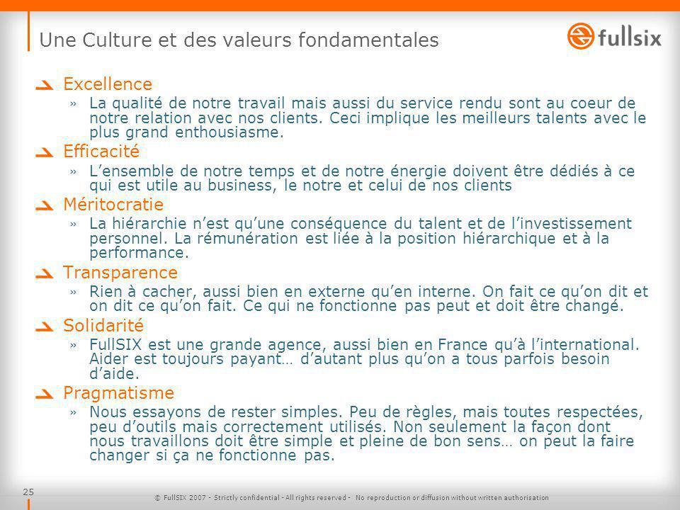 Une Culture et des valeurs fondamentales