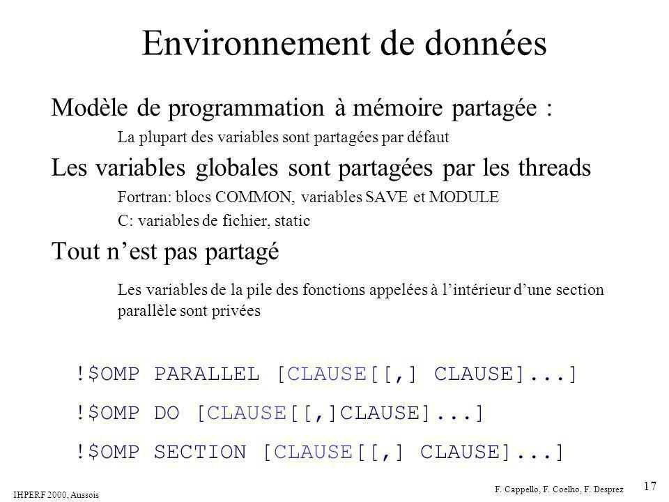 Environnement de données