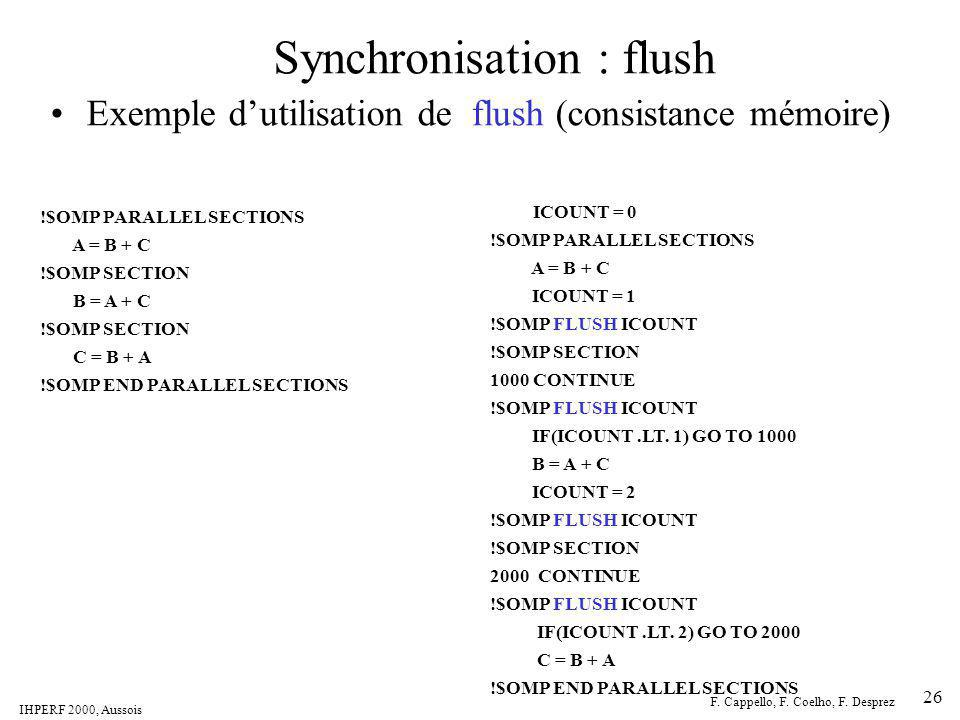 Synchronisation : flush