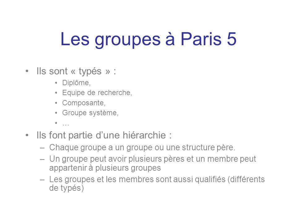 Les groupes à Paris 5 Ils sont « typés » :
