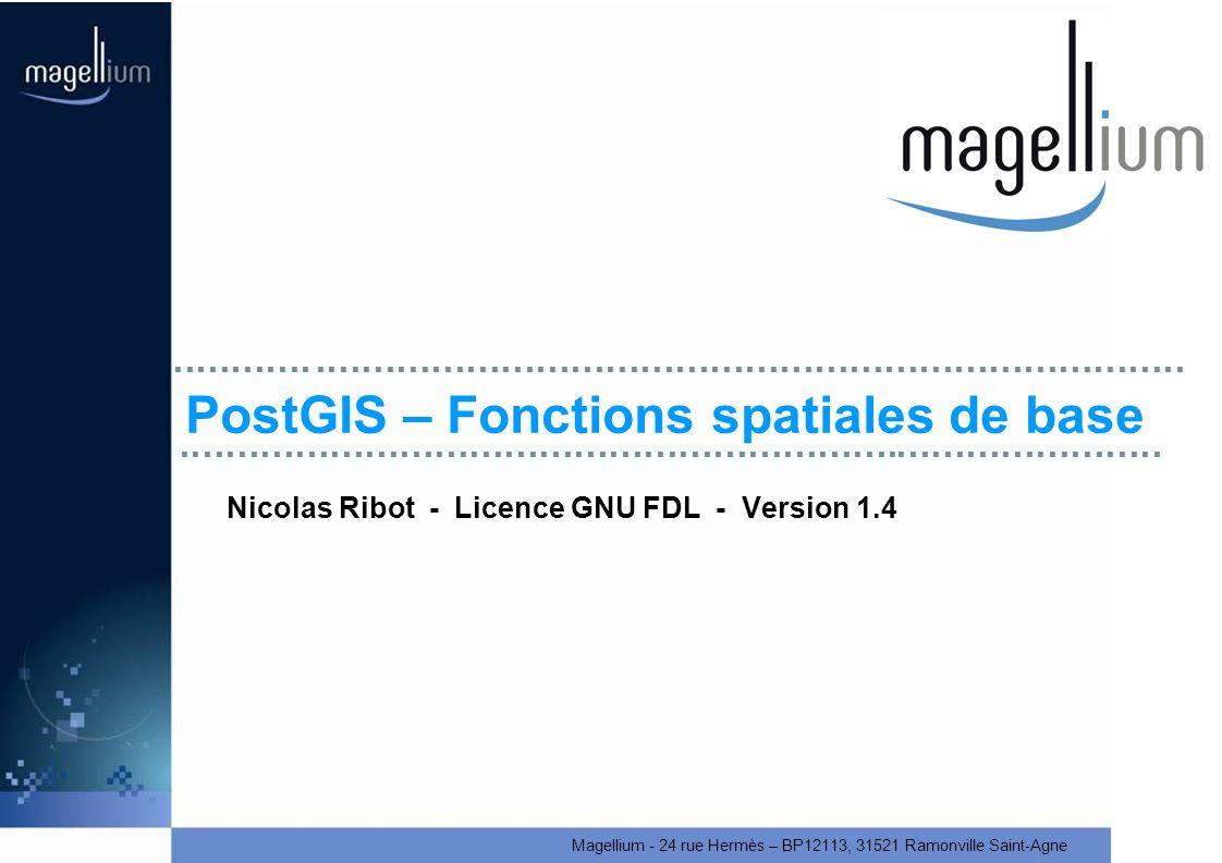 PostGIS – Fonctions spatiales de base