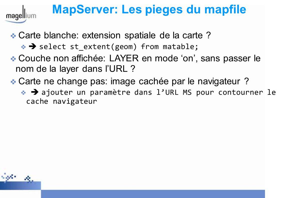 MapServer: Les pieges du mapfile