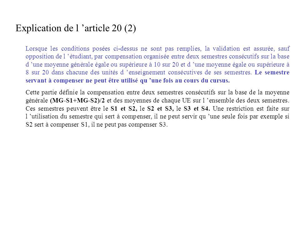 Explication de l 'article 20 (2)