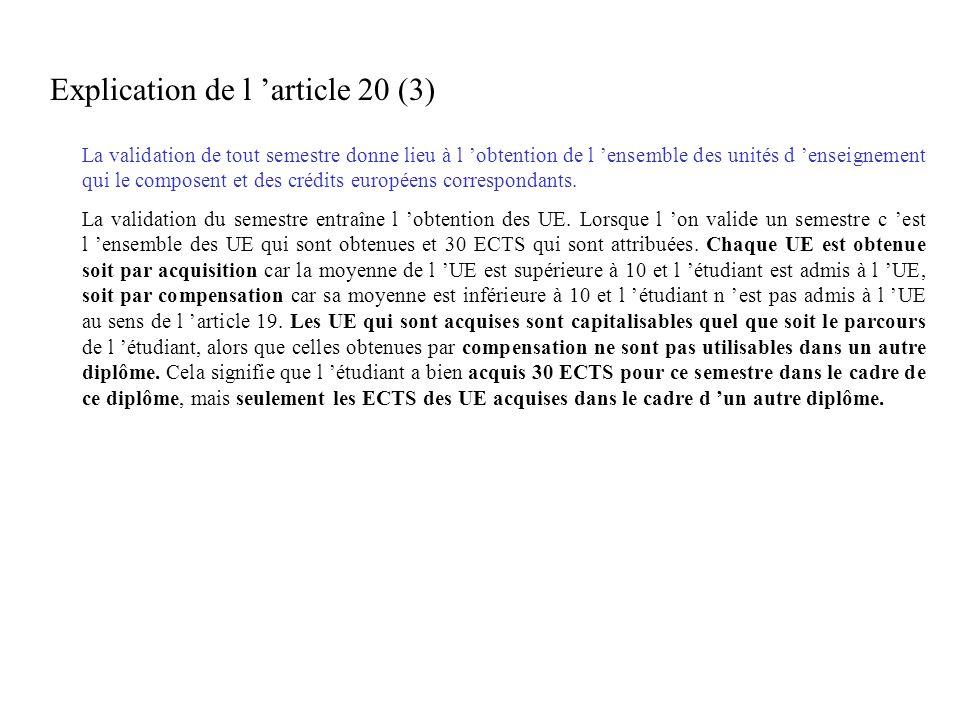 Explication de l 'article 20 (3)