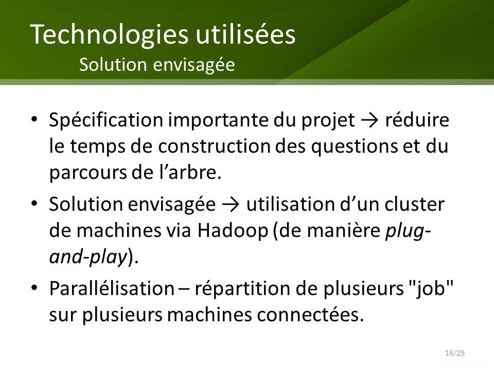 Technologies utilisées Solution envisagée
