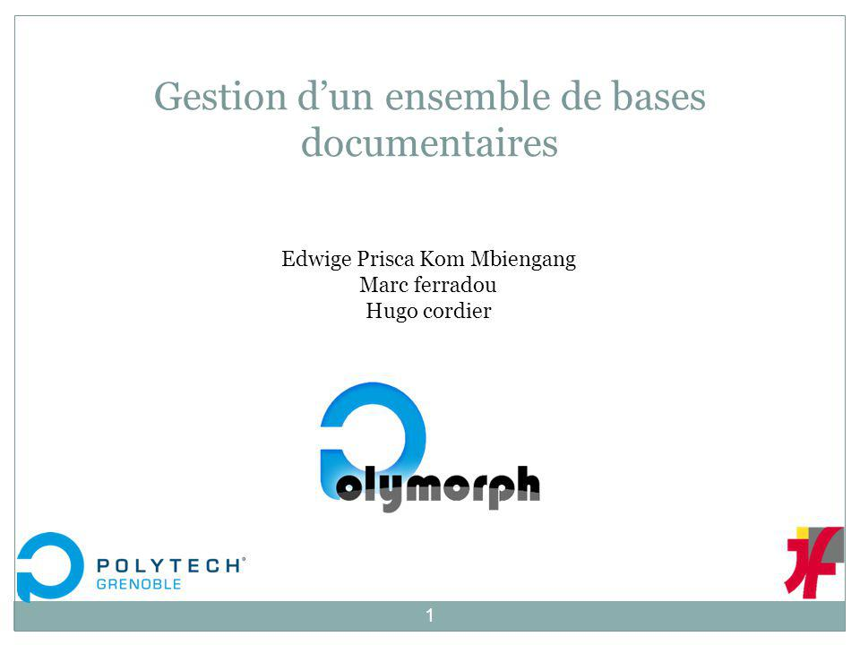 Gestion d'un ensemble de bases documentaires