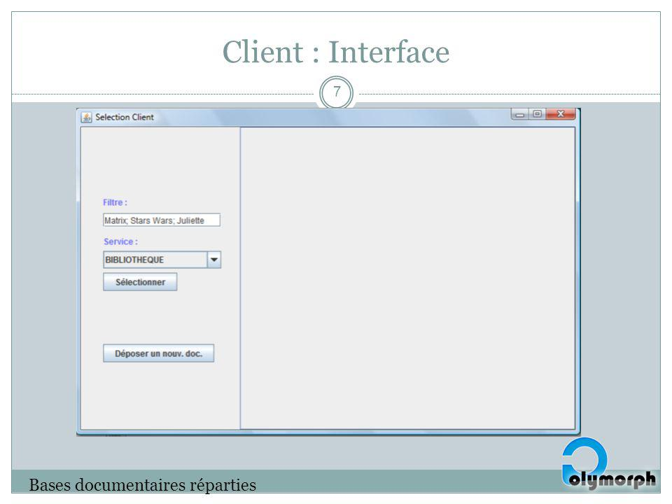 Client : Interface Bases documentaires réparties