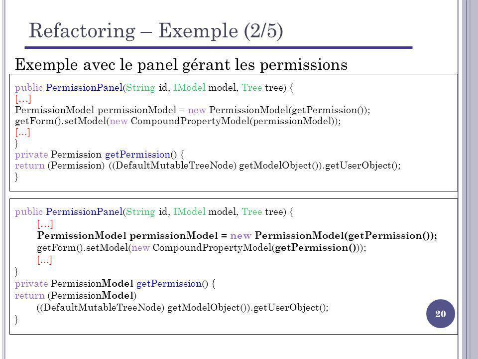 Refactoring – Exemple (2/5)