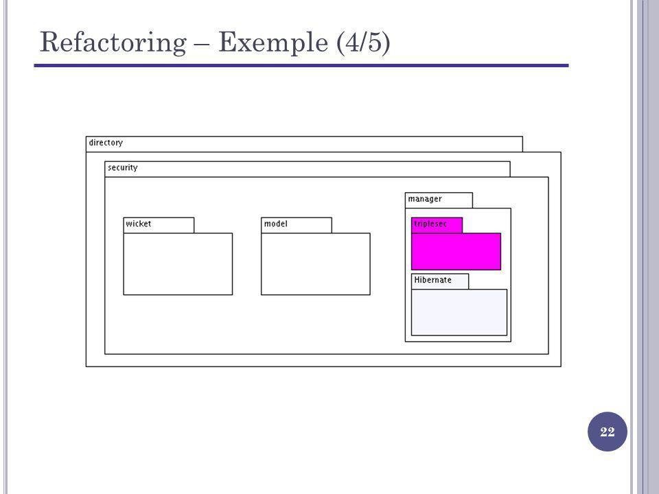 Refactoring – Exemple (4/5)