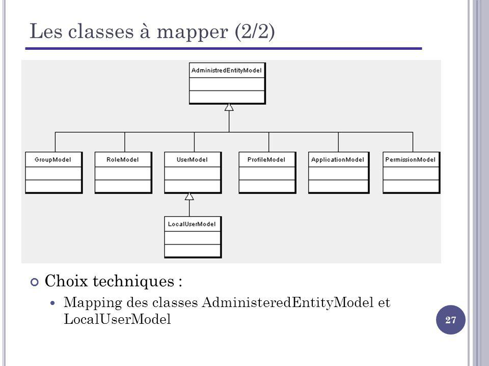 Les classes à mapper (2/2)