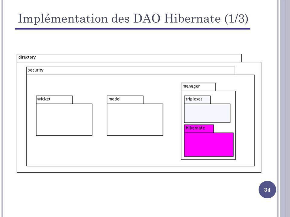 Implémentation des DAO Hibernate (1/3)