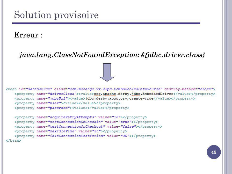 java.lang.ClassNotFoundException: ${jdbc.driver.class}