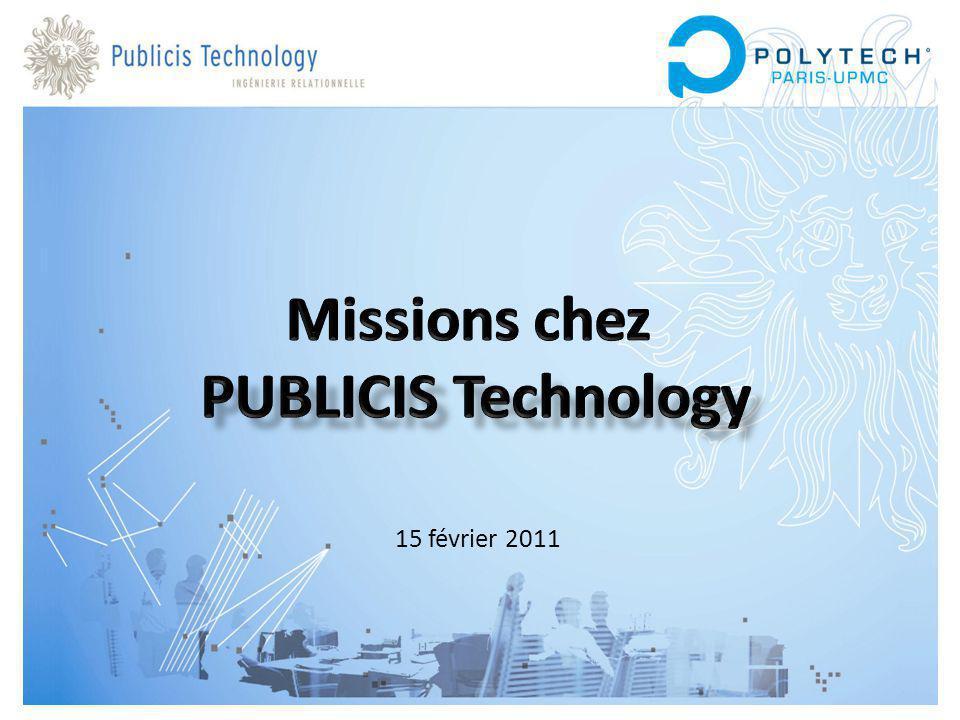 Missions chez PUBLICIS Technology