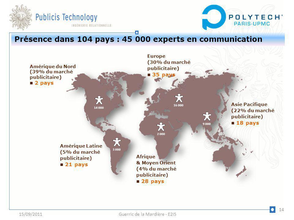 Présence dans 104 pays : 45 000 experts en communication