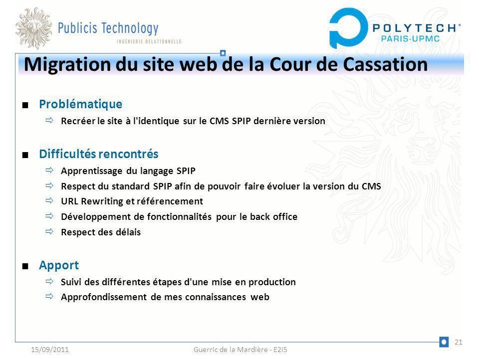 Migration du site web de la Cour de Cassation
