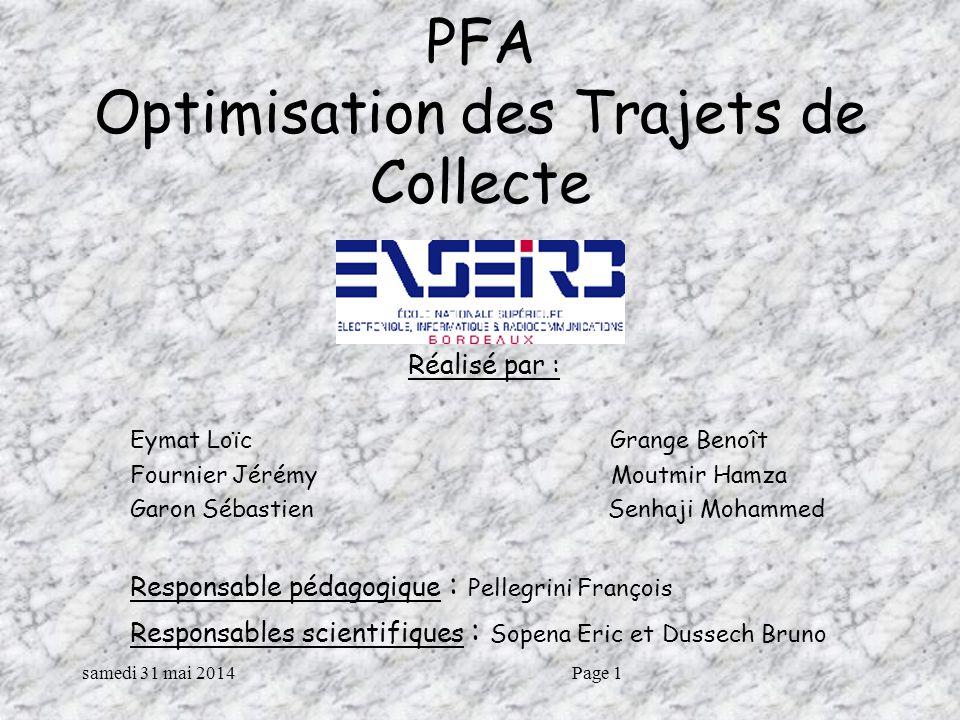PFA Optimisation des Trajets de Collecte
