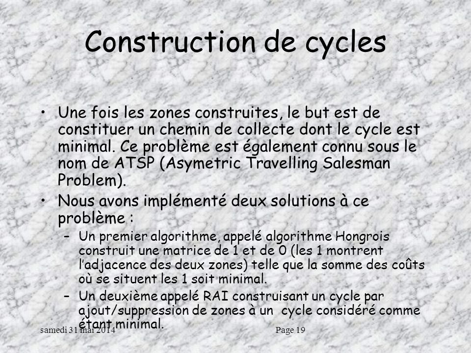 Construction de cycles