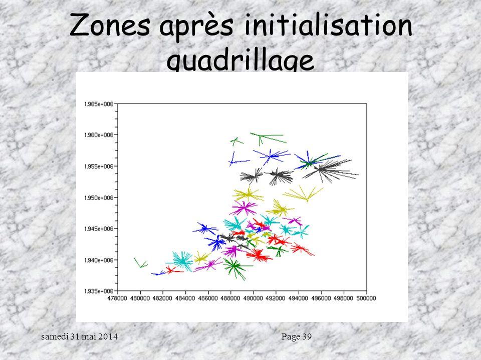 Zones après initialisation quadrillage