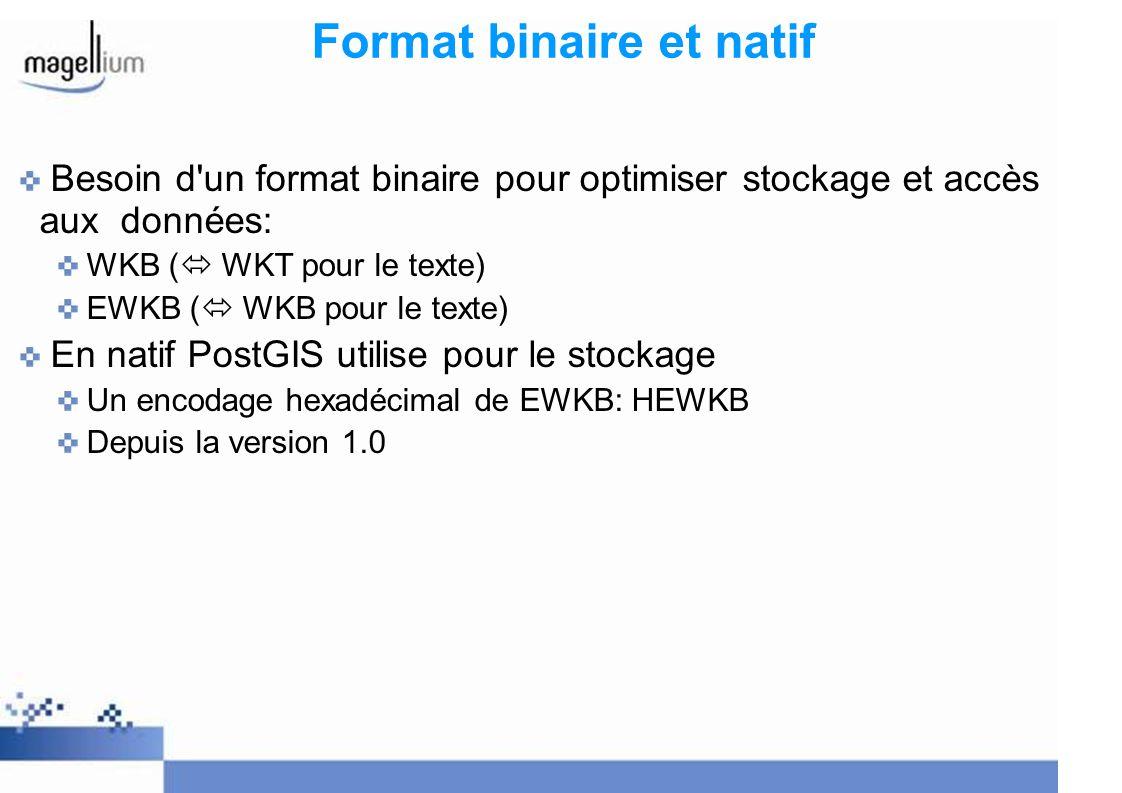 Format binaire et natif